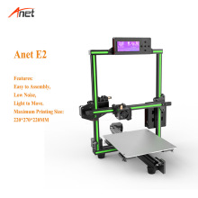 Anet E2 Aluminum Frame 2004 LCD Screen 3d Printer Kit Light to Move 0.1-0.4mm Layer Resolution Stampante 3d 22*27*22cm Printer