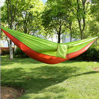 270 X 145 Cm Double Parachute Cloth Hammock Rope Tie Camping Dormitory Outdoor Travel Mountaineering Leisure