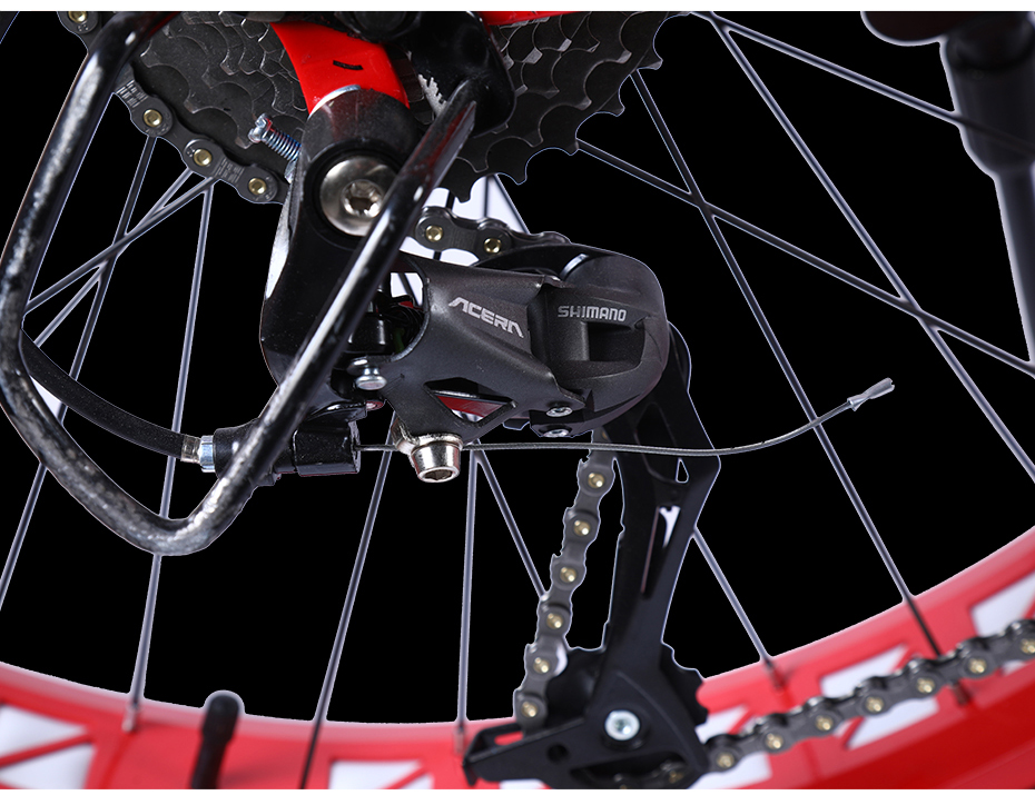 HTB1NV0LaPzuK1Rjy0Fpq6yEpFXaR Love Freedom Mountain bike 26 * 4.0 Fat Tire bicycle 21/24/27 Speed Locking shock absorber Bicycle Free Delivery Snow Bike
