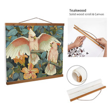 ART ZONE Bird Solid Wood Scroll Painting Retro Europe Animal Canvas Oil With Frame Home Decorative Wall Art Hang Poster
