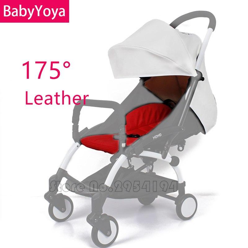 BEBÊ YOYA 175 Graus Sol Capa E Almofada Do Assento de Couro Ou de Linho Definir Nova Chegada Colorido Carrinho de Bebê Acessórios
