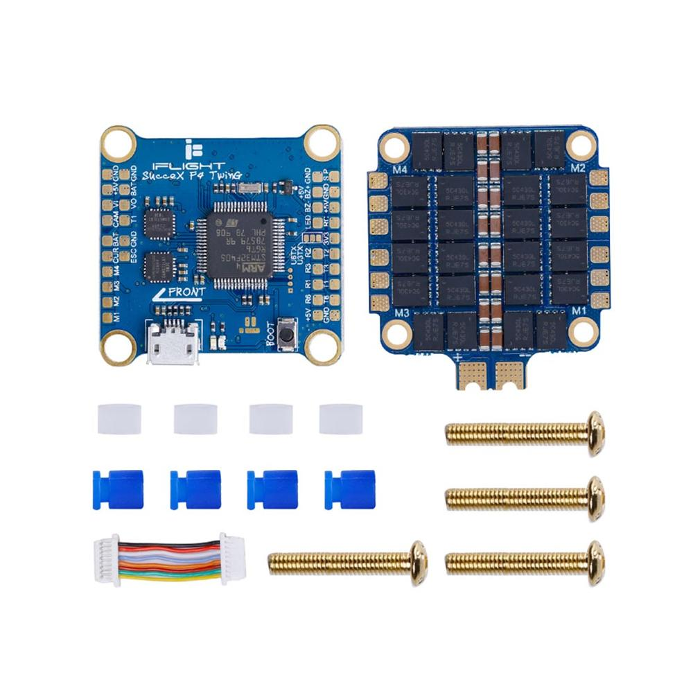 iFlight SucceX F4 TwinG FC with SucceX 50A 2-6s BLHeli_32 Dshot1200 4-in-1 ESC Flytower FPV Flight Tower System for FPV RC DroneiFlight SucceX F4 TwinG FC with SucceX 50A 2-6s BLHeli_32 Dshot1200 4-in-1 ESC Flytower FPV Flight Tower System for FPV RC Drone