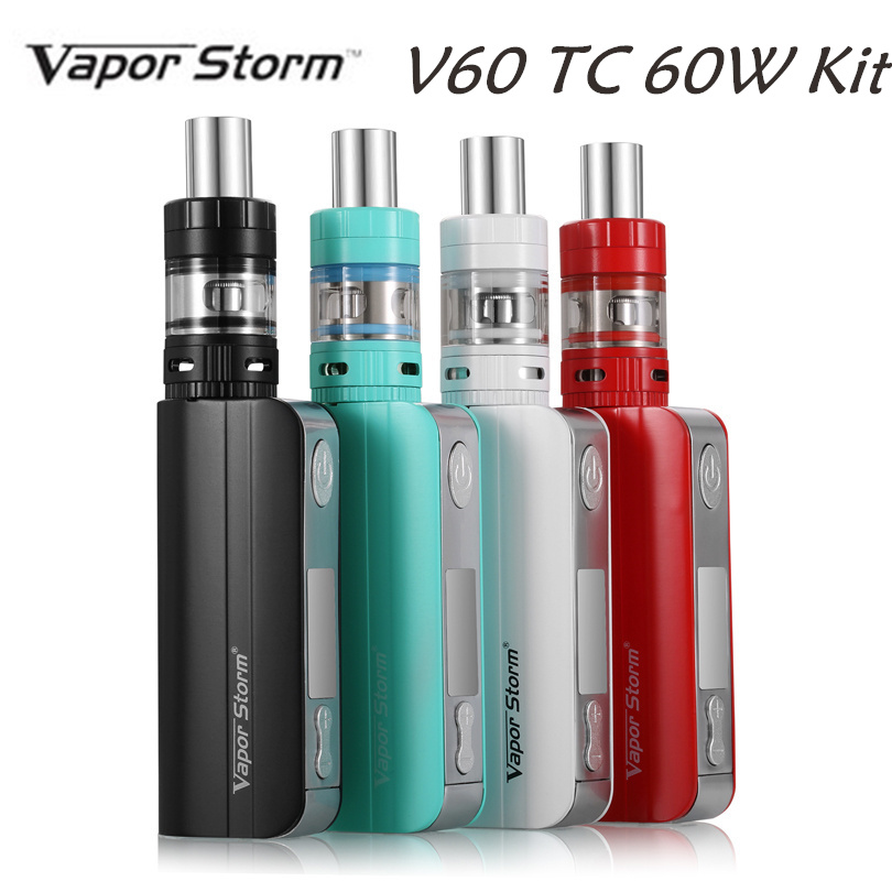 Vapor Storm V60 TC 60W Box Mod Original Temperature Control With EC II Tank 0.3 ohm RDA Vaporizer Mechanical Mod