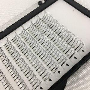 Image 3 - Long Stem Hotsale 3 Trays/lot 3D 5D Premade Fans Grafting Volume Fake Mink Eyelashes False Clusters 9 15mm 3D Mink