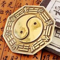 فتح ضوء غرامة النحاس ثمانية مخطط شكل فتيل الشر الروح مرآة محدبة مرآة البوذية الديكور مرآة المنزل