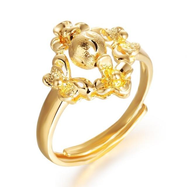 2014 latest gold ring designs for women KJ025