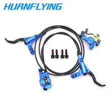 цена на Hydraulic Disc Brake Lever Front 800/ Rear 1400 mm For Mountain Bicycle Disc Brake Clamp Brake Pads