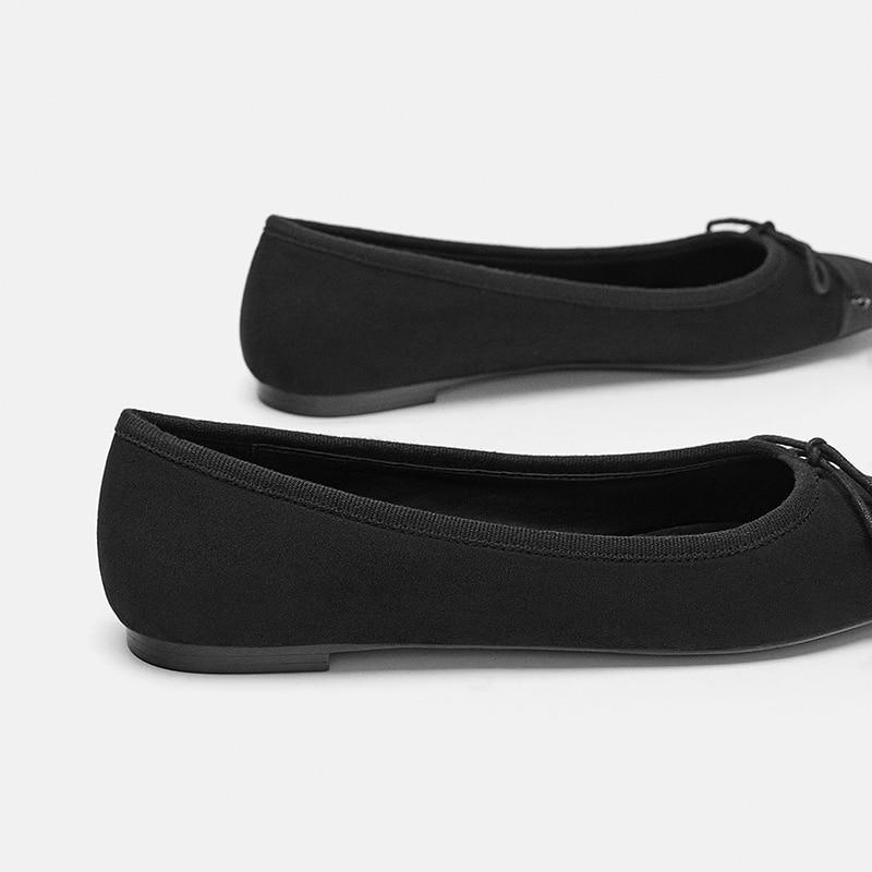 Sur Rond fsj02 De Fsj Travail Mélangées Chaussures Noeud 16 Taille 4 Casual Couleurs Femme Mocassins Appartements Robe Kaki Glissement Bout Ruban Lady Mode Noir Fsj01 vSwafq