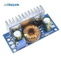 محول دفعة 6A DC-DC 4.5 فولت-32 فولت إلى 5-42 فولت 6 أمبير قابل للتعديل لوحة وحدة تحويل التيار الكهربائي