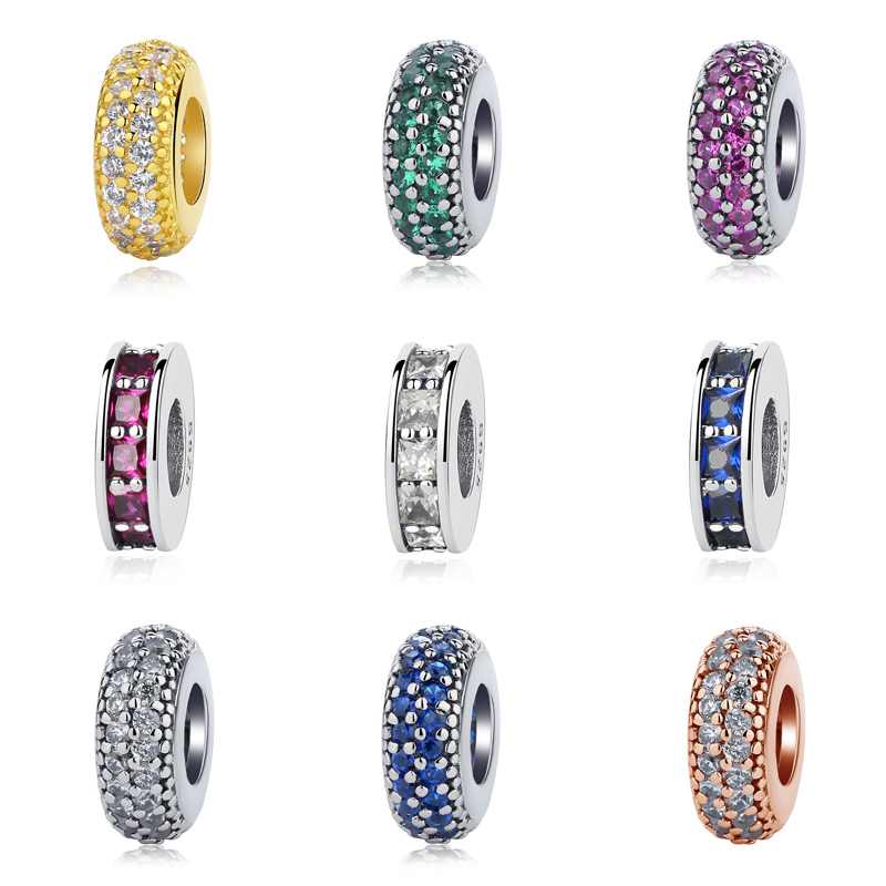 Original 925 Sterling Silver Bead Charm Inspiration Within Eternity Spacer Charms CZ Fit Pandora Bracelets Women Diy Jewelry ...