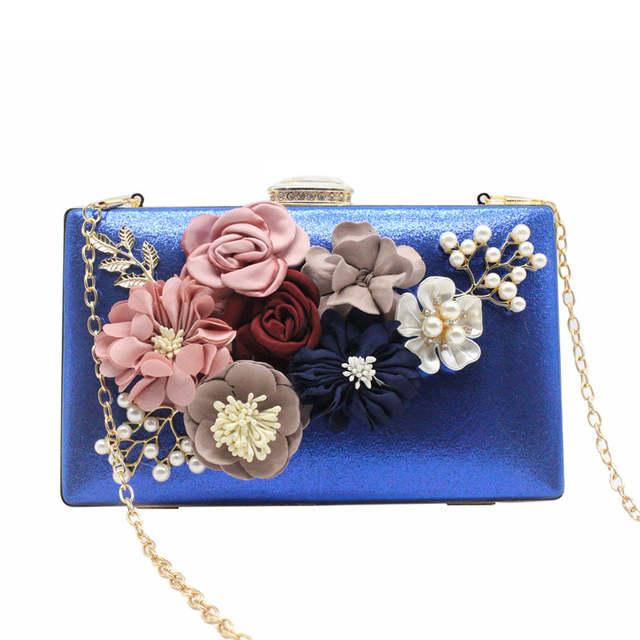 cccd5c565beb Women Evening Bag Ladies Flower Wedding Clutches Female Pink Black Clutch  Purse #Zer