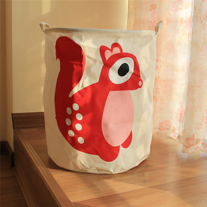 TTLIFE Cartoon Dirty Clothes Laundry Basket Pouch Linen Washing Hamper Home Bag Housekeeping Use Bags Folding Toy Storage