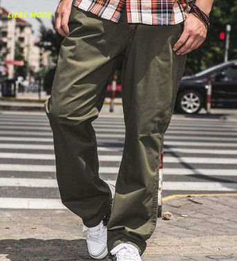 2XL-6XL 7XL Big Size Men Leisure Casual Skateboard Pants Large Size Male Loose Fit Trousers Baggy Cargo Pants Military Pantalon ...