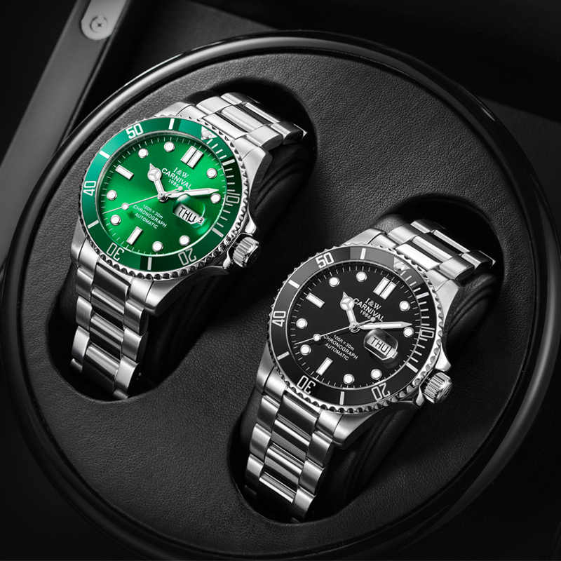 Luxury Brand Sapphire Automatic Self-Wind Men's Watch Date Day Full Steel Male Watches Casual Mechanical Men Famous Clock NEW