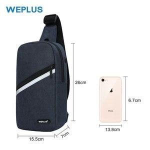 Image 3 - Weplus crossbody 가방 남자 여자 방수 가슴 가방 팩 안티 절도 어깨 가방 남자에 대 한 작은 가방 usb 헤드폰 와이어 포트