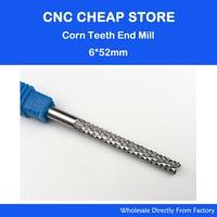 1Pc 6 52mm Brand New High Quality Corn Teeth PCB Print Circuit Board Carbide CNC Router