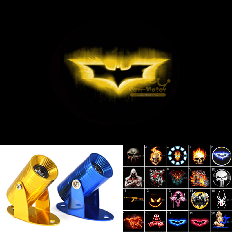 Motorcycle Universal 3D Red Batman Logo Laser Projector CREE LED Puddle Light