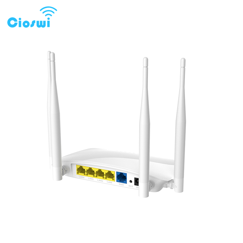 Cioswi 2.4G Wireless Router Wifi Router Access Point Easy Setup Mobile Router 300Mbps Hotspot Openwrt 4 Pcs External Antennas