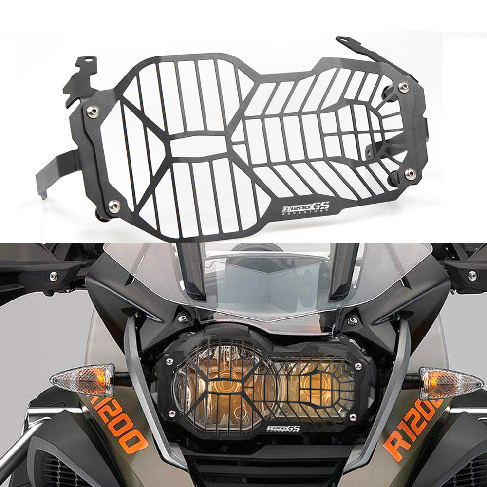Hot Motorcycle Headlight Head light Grill Guard Cover Protector For BMW R1200GS 2013 2014 2015 2016 2017 2018 R 1200GS 1200 GS hot motorcycle headlight head light grill guard cover protector for bmw r1200gs adventure 2013 2014 2015 2016 r 1200gs 1200 gs