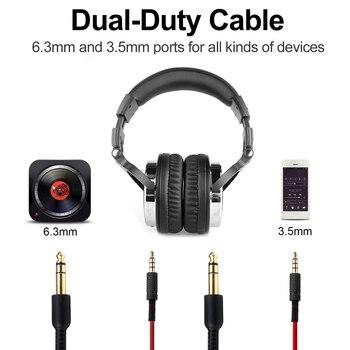 Oneodio Professional Studio Headphones DJ Stereo Headphones Studio Monitor Gaming Headset 3.5mm 6.3mm Cable For Xiaomi Phones PC 2