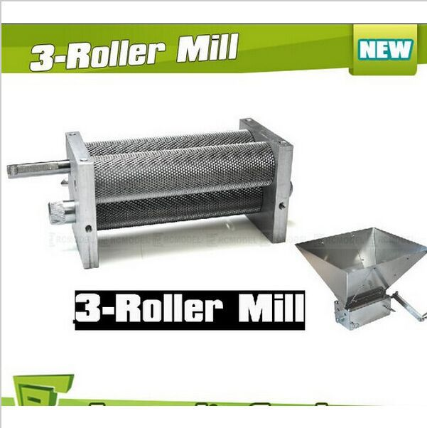 Brand New orge Crusher Malt Grain 3-Roller Mill pour accueil brewing 3 rouleaux Malt mill, Home brew Mill