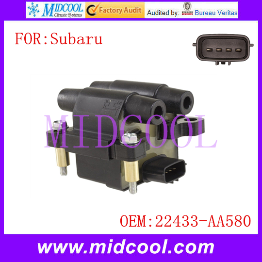 New Ignition Coil use OE NO. 22433-AA580 22433AA580 new ignition coil use oe no 27301 04000 for hyundai