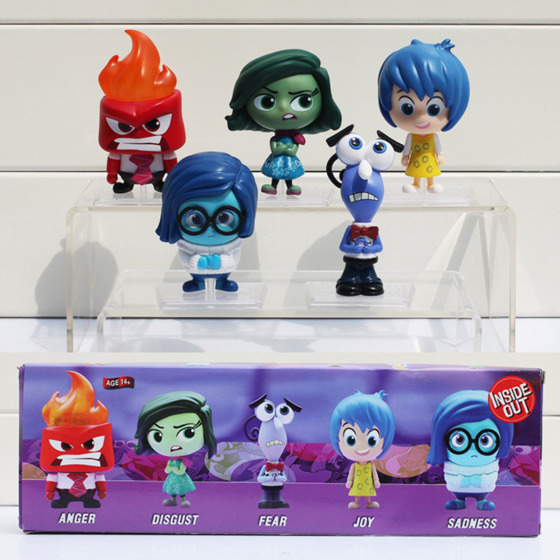 US $23 47 20% OFF 5pcs/set Movie Inside Out PVC Figure Toys Joy Sadness  Fear Anger Disgust Figures Model Dolls 6~8cm Retail With Box-in Action &  Toy