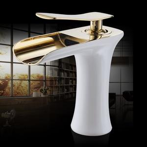 Image 5 - אגן ברזי מפל אמבטיה ברז ידית אחת אגן מיקסר ברז אמבטיה עתיק ברז פליז כיור מים מנוף כסף 6009