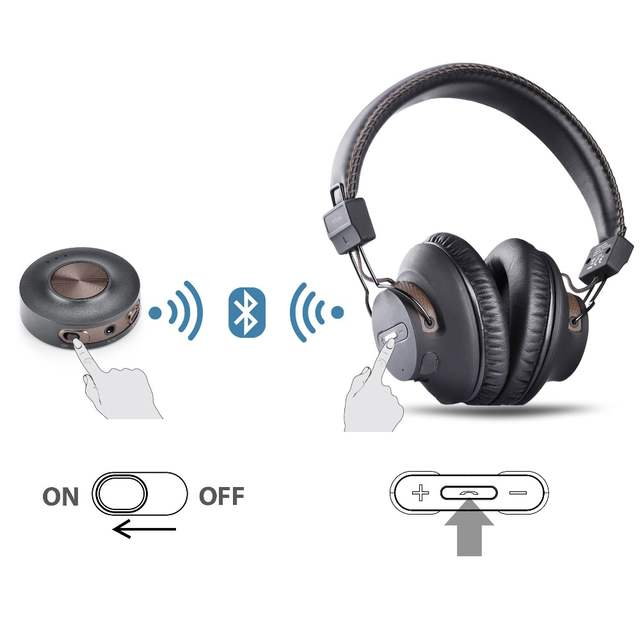 8de1606802ba7b Avantree Wireless Headphones for TV with Bluetooth Transmitter SET, Plug &  Play, No Lip Sync Delay, LONG RANGE, 40 Hours Battery-in Home Theatre  System from ...