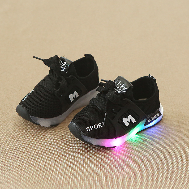 Student Kids Led Shoes Girls Sport Shoes With Led Lights Little Girls Glowing Sneakers Children Casual Shoes A746