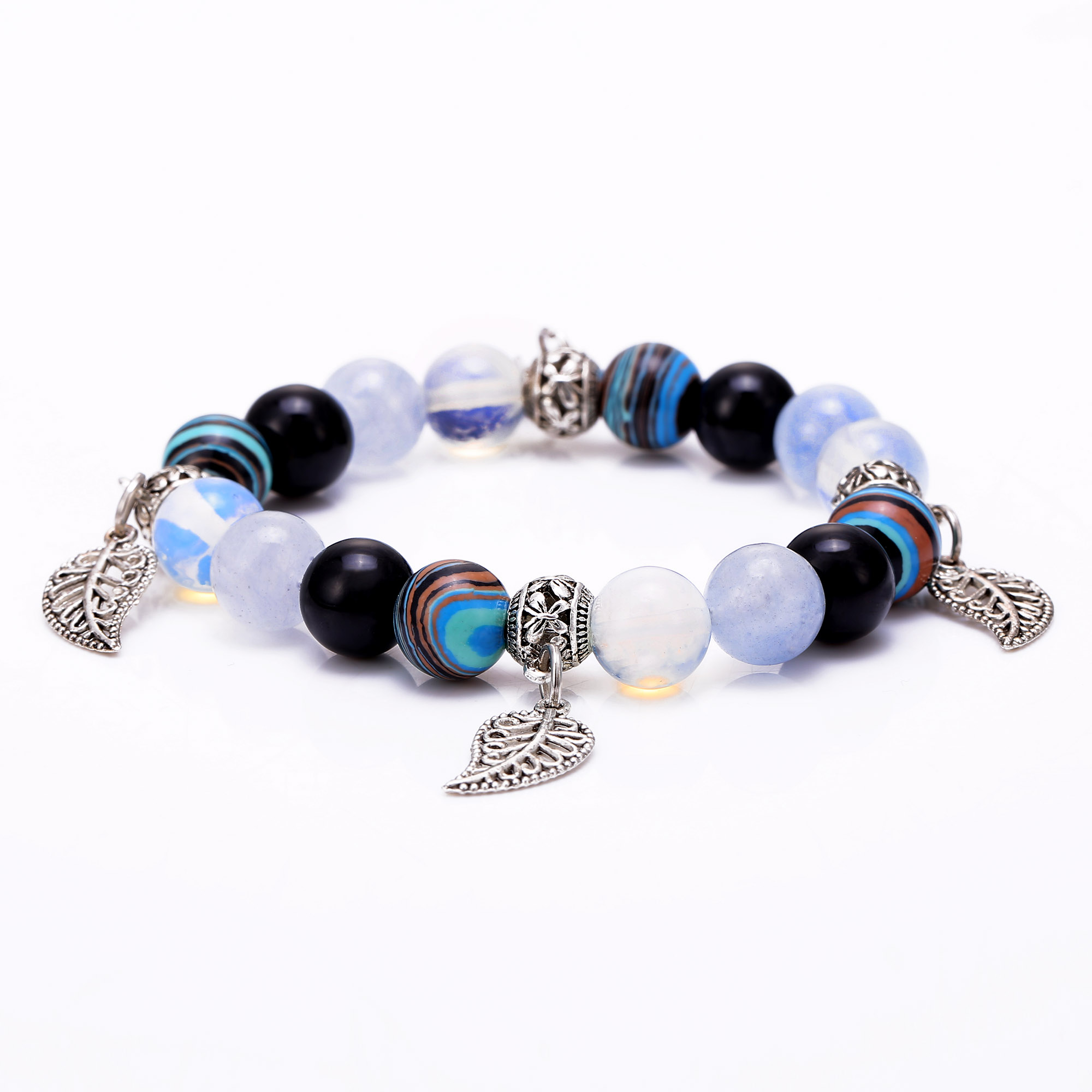 bracelet print products with charm t tourmaline bead silver paw sterling stone