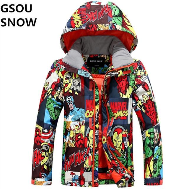 b7d62fea245f Gsou Snow Winter Kids Boys Ski Jackets Snowboard Boy Jacket Super ...