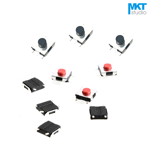 100Pcs SMD Red/Black Button 4 Pins 6*6*2.5/2.7/3.1/3.4/3.7/4.3/5/5.5mm Micro Push Button Tactile Tact Momentary Switch