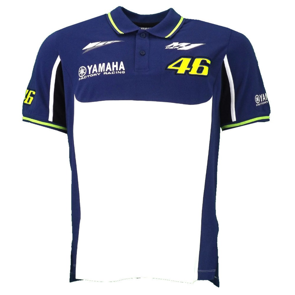 Free shipping 2016 Valentino Rossi for Yamaha m1 VR46 Moto GP 100 Cotton Polo T Shirt