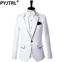 (Jacket + Pants) Men's Suits Groom Tuxedo Dress White Wedding Gentleman Slim Suit