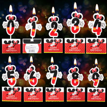 1pc Mickey Minnie Mouse Candle 0 1 2 3 4 5 6 7 8 9 Anniversary Cake Numbers Age Birthday Party Supplies Decoration