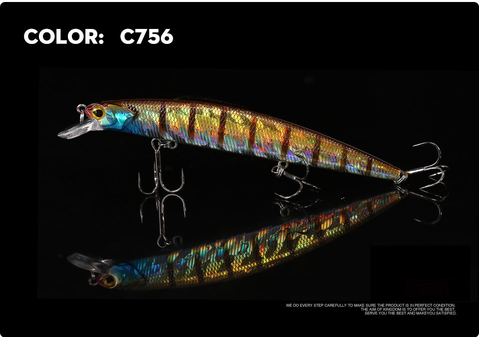 _11Kingdom 130mm20g Fishing Lure Jerkbait Floating Minnow Decoy Fishing Tackle Wobblers Strong Hook For Sea Water Model 3523