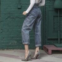 Vintage 50s High waist Jeans Women Loose Denim Harem Pants Boyfriend Cool Jeans Retro Trousers Female