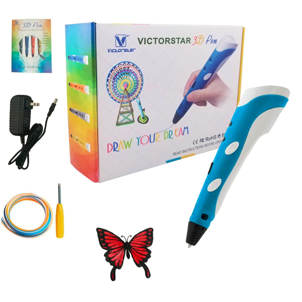 3D Printing Pen with Screwdriver / Using Military Motor / VICTORSTAR RP100A for 3D drawing / Compatible ABS & PLA Filament