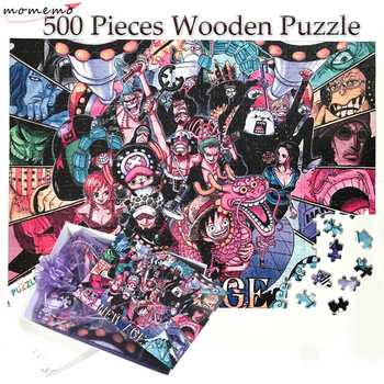 MOMEMO Adult Puzzle 500 Pieces Customized Wooden Jigsaw Puzzles Wooden Toys Unique ONE PIECE Puzzle for Adults Children Kids Toy