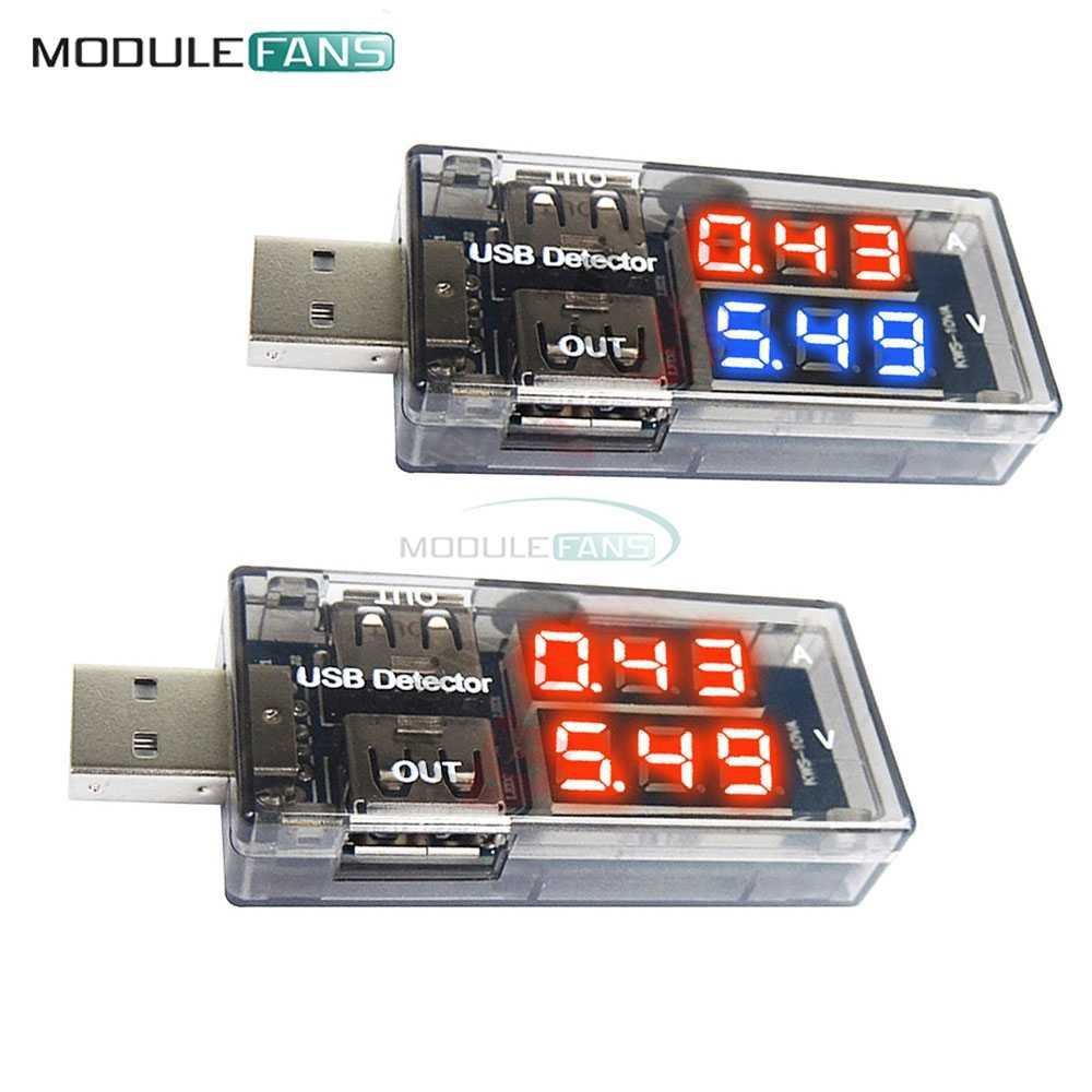 Dual Output USB Charger Doctor LED Digital Voltmeter AmmeterUSB Tester Voltage Meter Power Adapter Detector DC 3-7.5V 0-2.5A