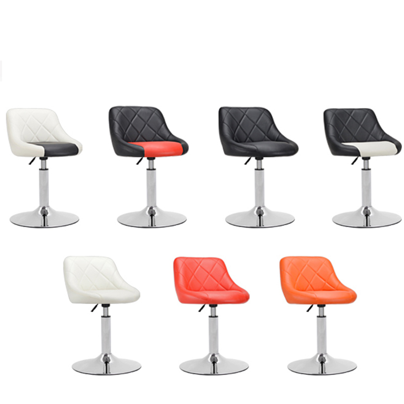 Simple Design High Quality Rotating Adjustable Height Bar Chair Chair Office Lounge Chair PU Material Tabouret De Bar