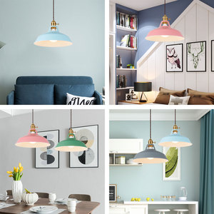 Image 2 - 2 Pieces Pendant light,Modern pendant lamp,multiple colour luminary,Loft hanging lamp,knob Switches,E27 base,for home&store