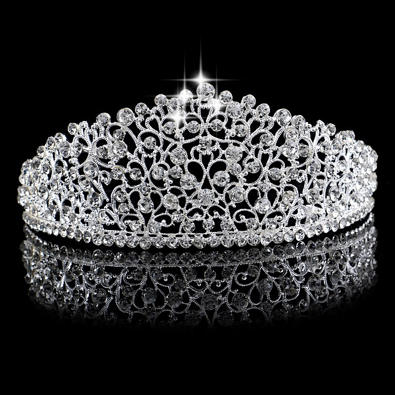 HTB1NV44MFXXXXaIXXXXq6xXFXXXx Fabulous Crystal Studded Bridal Prom Party Pageant Tiara Crown