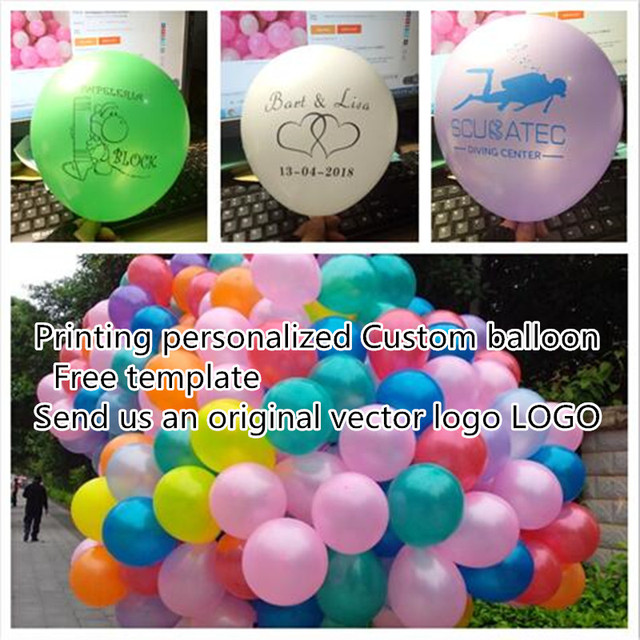Custom Your Own Party Balloons Personalized Balloon Print Name Logo For Wedding Birthday Baby Shower Advertising