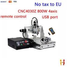 (NO HAY IMPUESTO de LA UE) 2017 NUEVA máquina de grabado de 4 ejes 4030 tornillo de la Bola con mach3 puerto USB remoto control