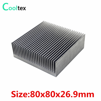 9pcs Extruded Aluminum heatsink 80x80x26.9mm radiator for Electronic Chip LED IC integrated circuit heat sink COOLER cooling