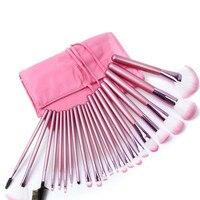 22Pcs Makeup Brushes Cosmetic Tool Kits Professional Eyeshadow Powder Eyeliner Contour Brush Set With Case Bag