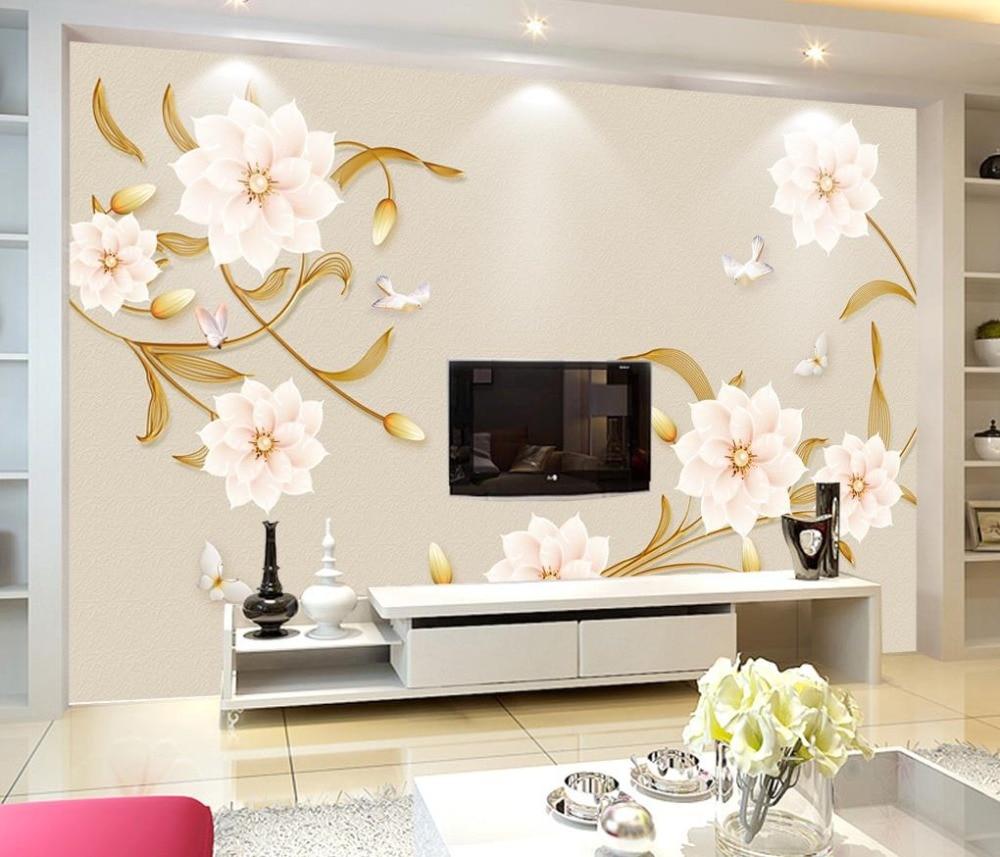 Elegant Modern flower Photo Wallpaper 3D Mural 3D Living room Bedroom Wallpaper Murals blue earth cosmic sky zenith living room ceiling murals 3d wallpaper the living room bedroom study paper 3d wallpaper