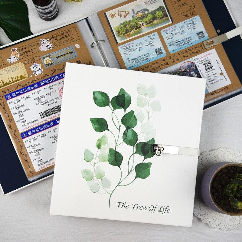 Creative Pu BRICOLAGE photo album, à la main romantique pâte amateurs de style amour cadeau cadeau album photo album